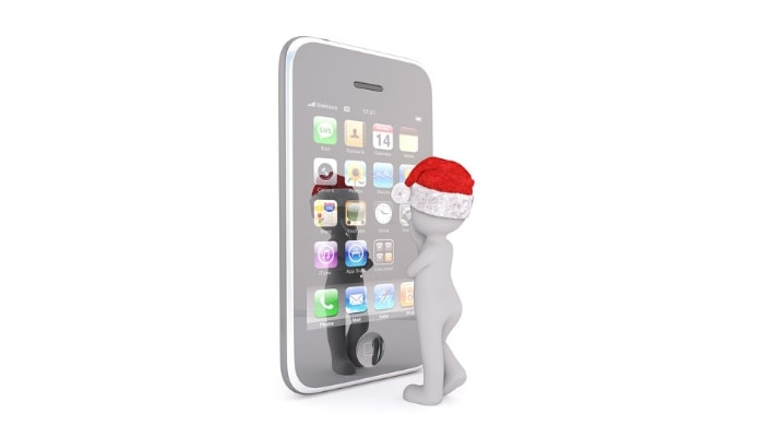 Acciones de marketing navideño para realizar en Navidad en tu empresa:  app navideña